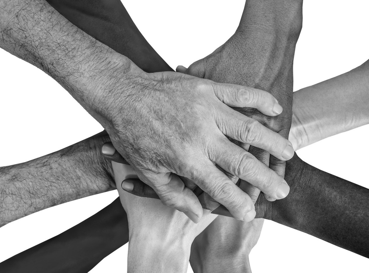 Hands Together as a Group