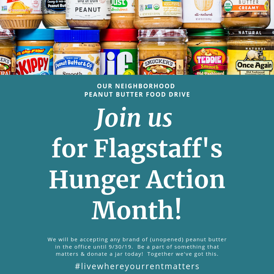 Join Us for our Neighborhood Peanut Butter Food Drive!
