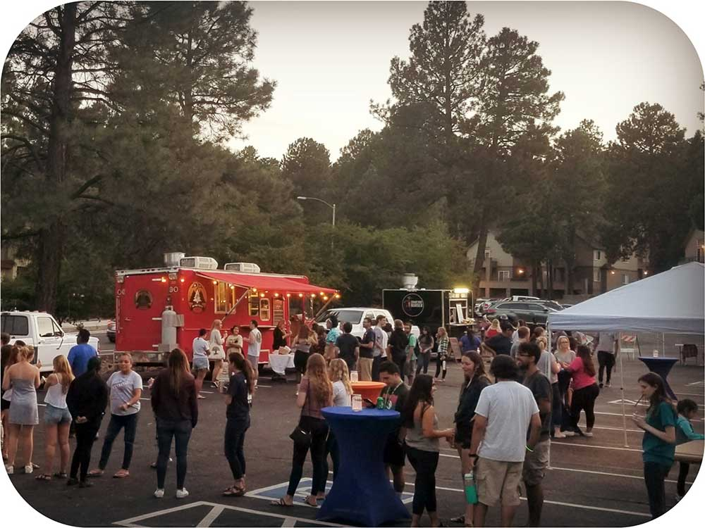 Food truck community event.