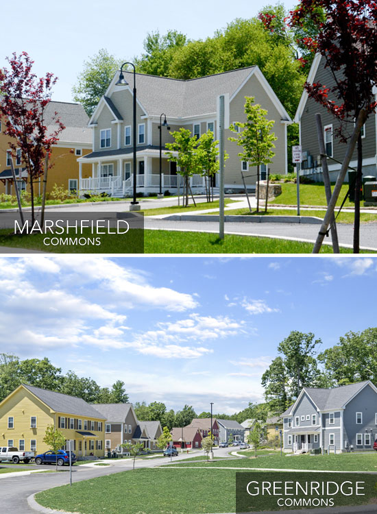 Marshfield Commons and Greenridge Commons