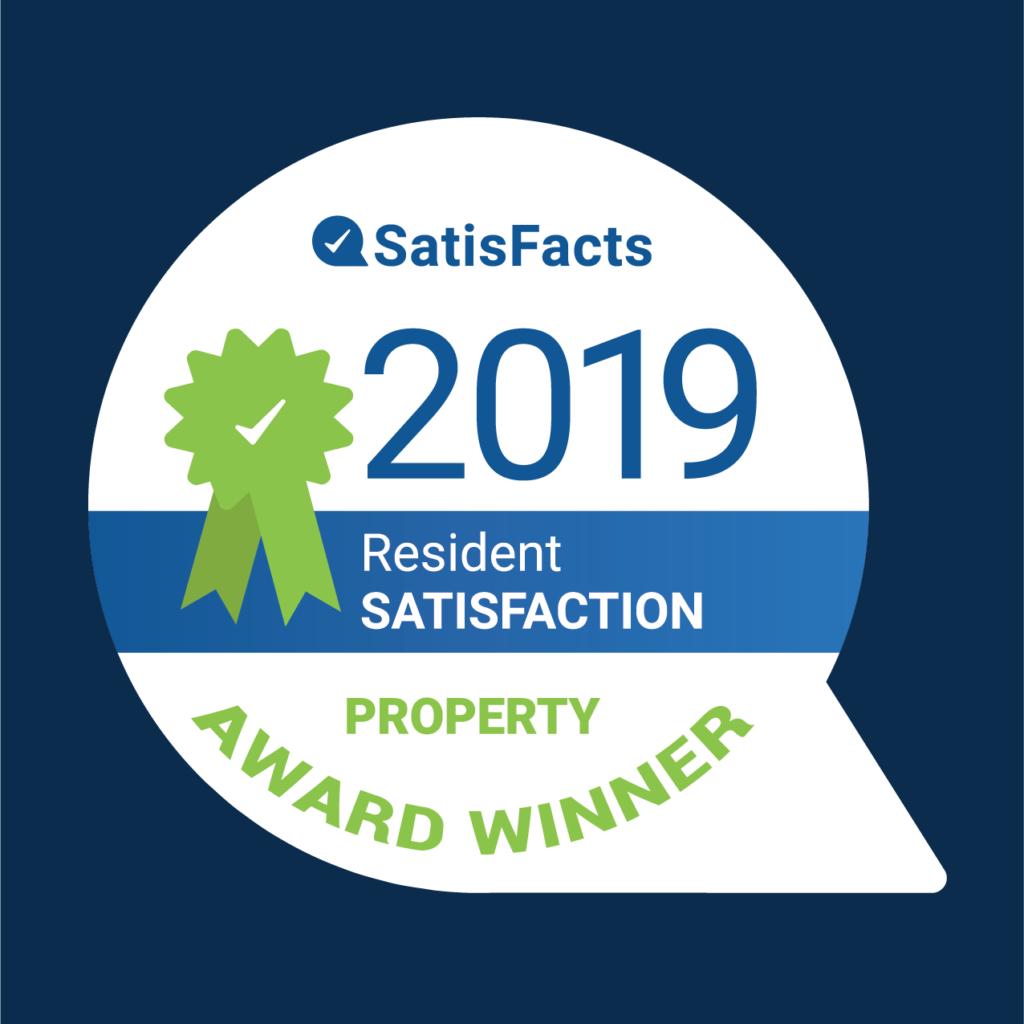 2019 SatisFacts Resident Satisfaction Property Award Winner