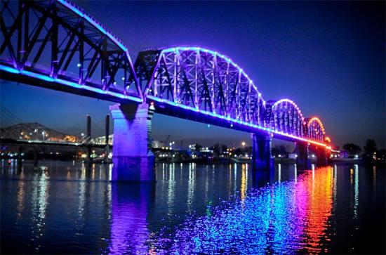 Big Four Bridge in Louisville Kentucky and Jeffersonville Indiana