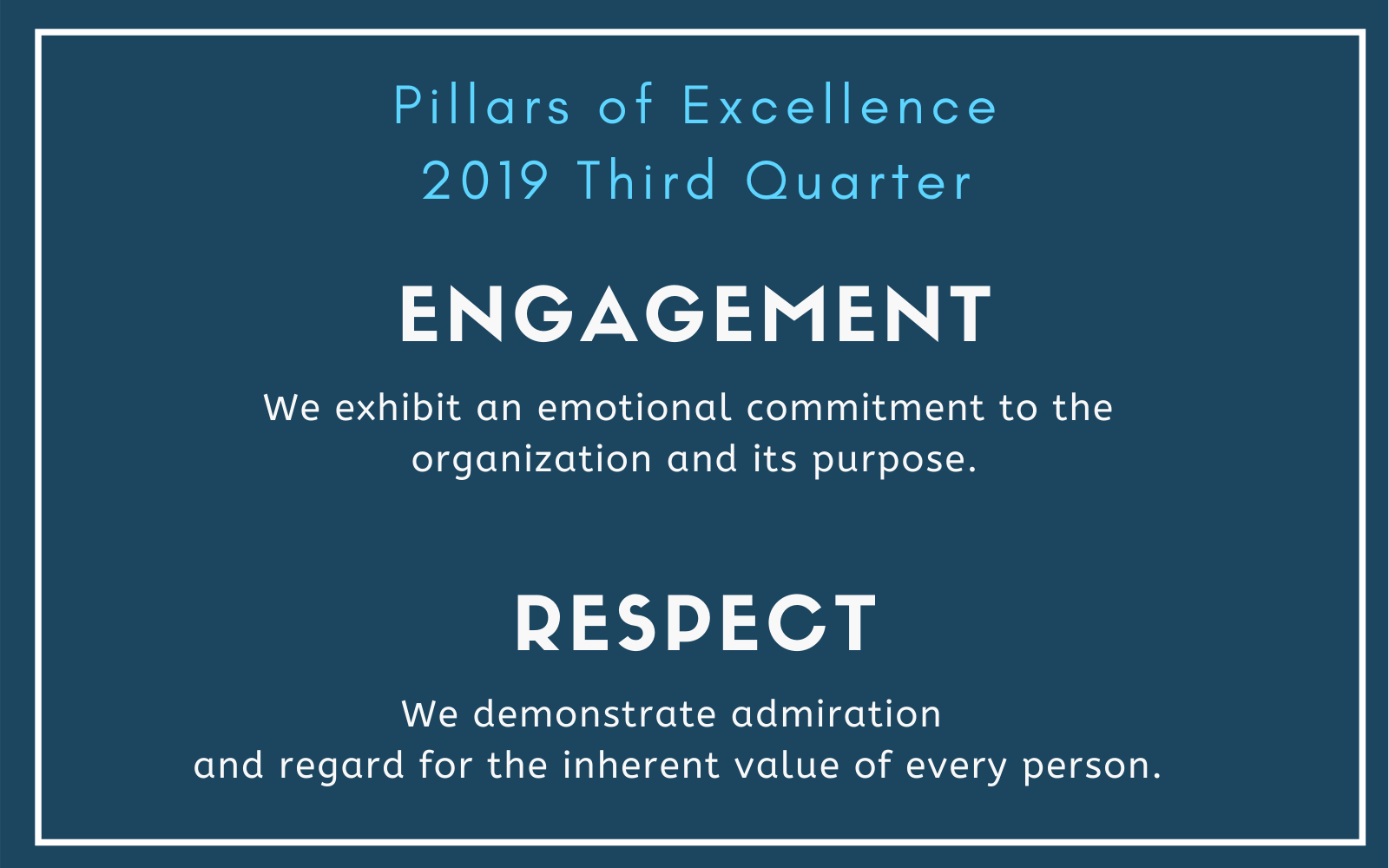 NALS Pillars of Excellence Third Quarter