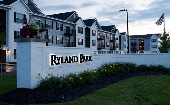 Ryland Park luxury apartments in columbus.