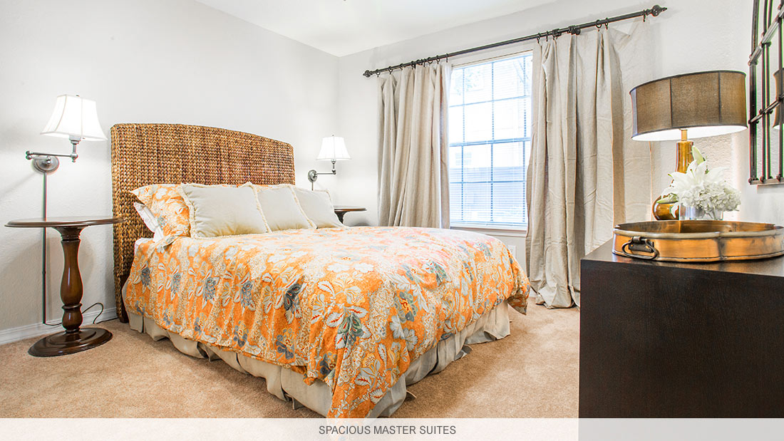Shreveport apartments and town houses with spacious master suites