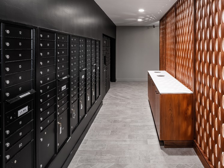 Mail and Package-Receiving Lockers at Flux Apartments Des Moines IA
