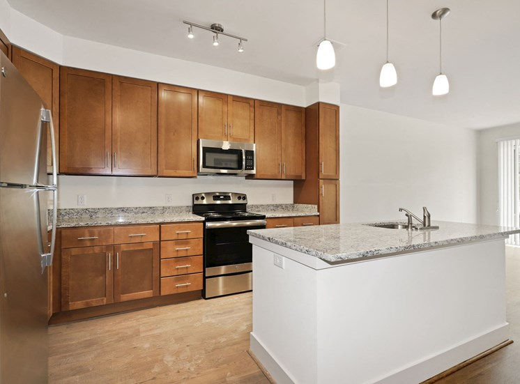 A2A Kitchen with wooden closet at Avenue Grand, White Marsh, 21236