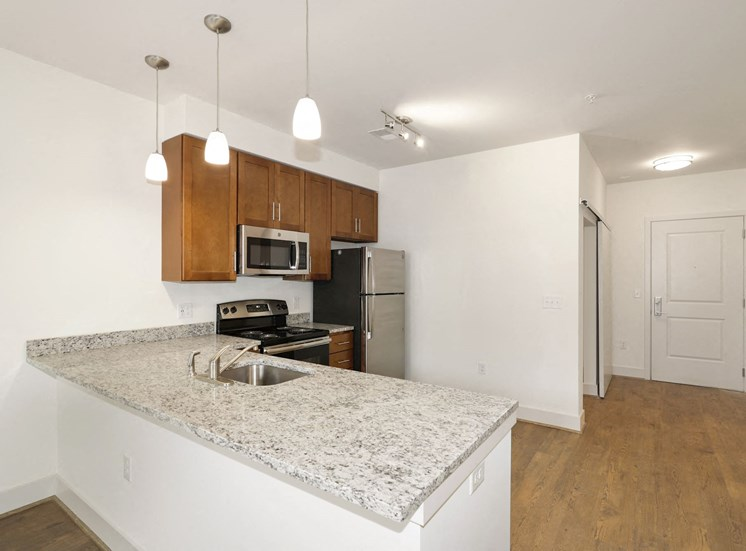 A7AD Kitchen with sink at Avenue Grand, Maryland, 21236