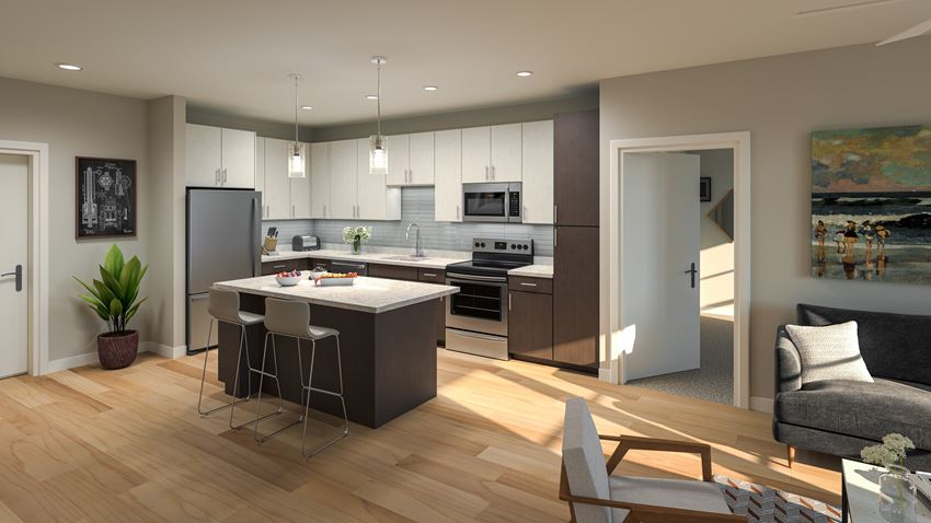 Gourmet Kitchen With Island at Delamarre at Celebration, Florida, 34747