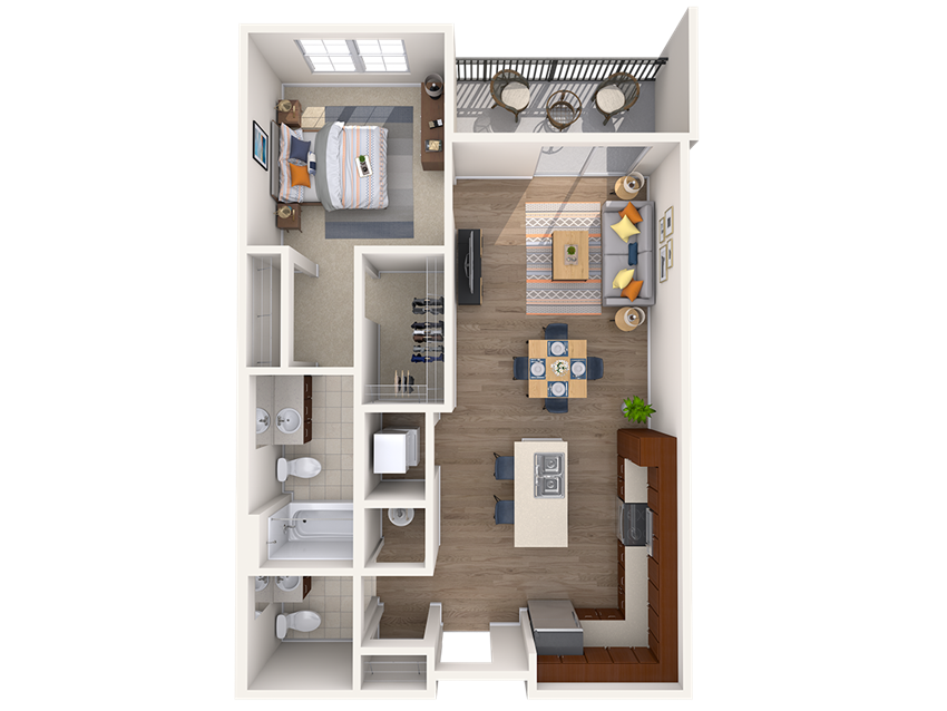 A1A 1Bed_1.5Bath at Avenue Grand, Maryland, 21236