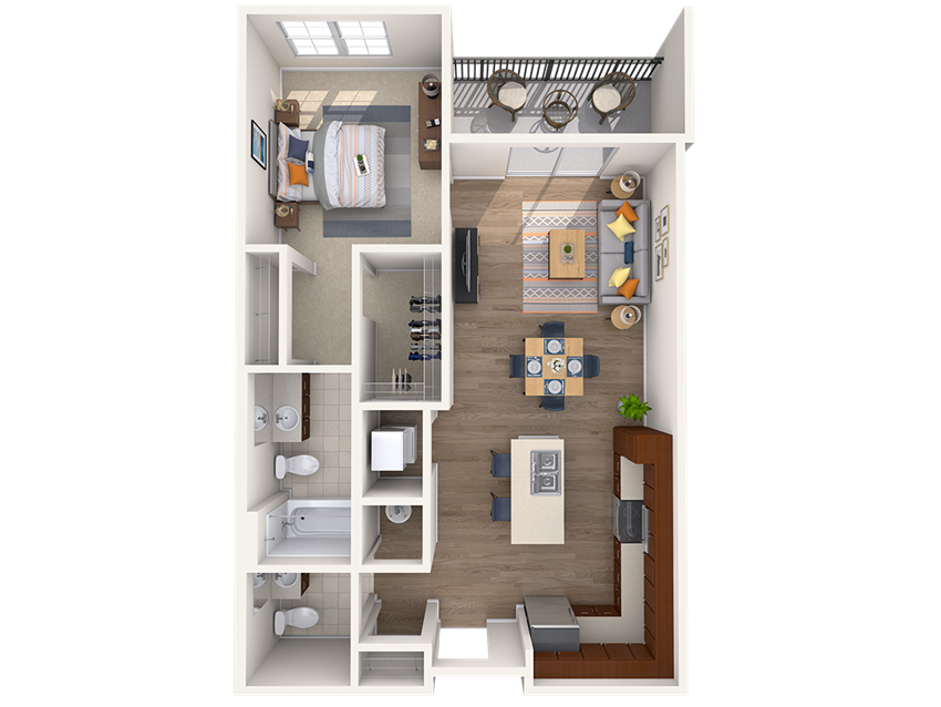 A3A 1Bed_1.5Bath at Avenue Grand, White Marsh, MD, 21236