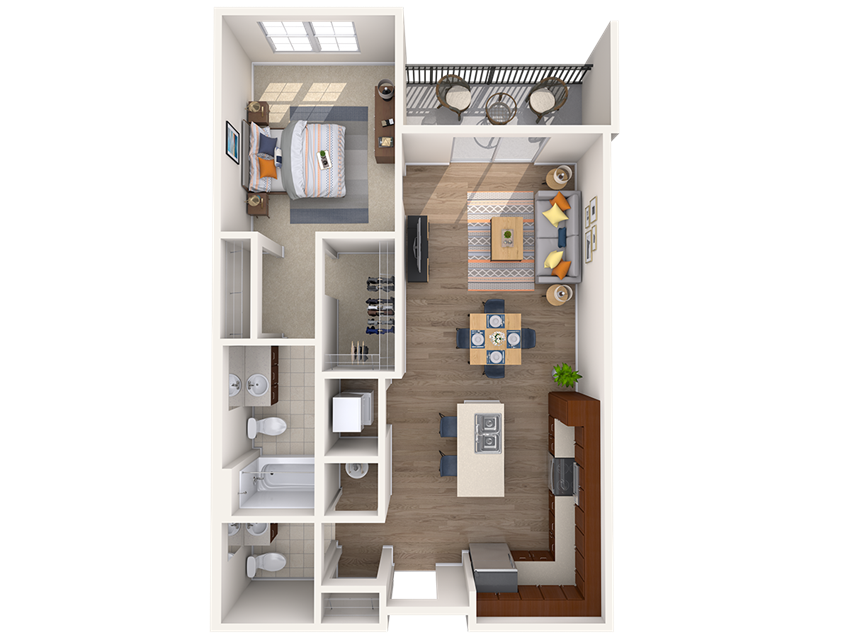 A4A 1Bed_1.5Bath at Avenue Grand, White Marsh, MD