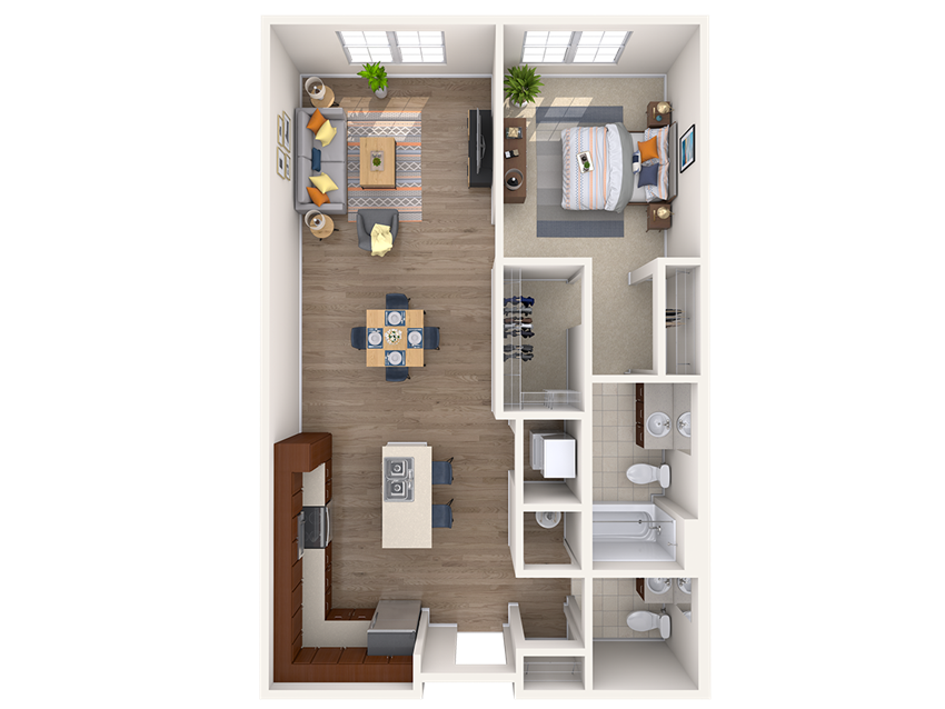 A5A 1Bed_1.5Bath at Avenue Grand, White Marsh, 21236