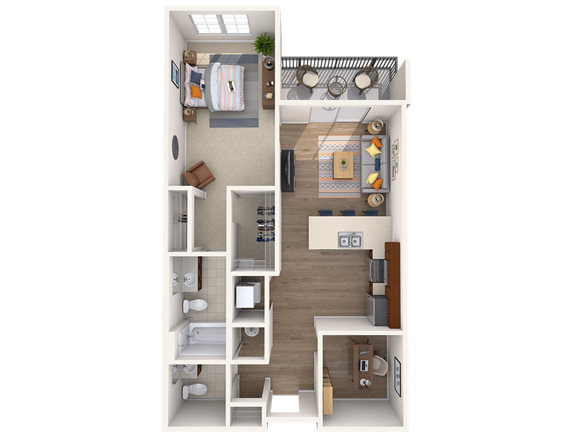 A7AD 1Bed_1.5Bath at Avenue Grand, White Marsh