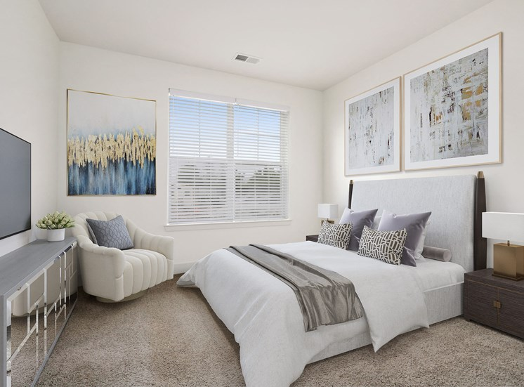 Beautiful Bright Bedroom With Wide Windows at Avenue Grand, White Marsh, MD