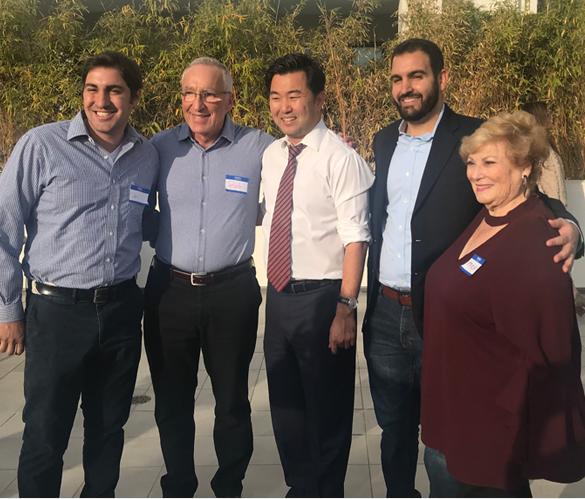 Daniel Korda, Robert Korda, Los Angeles City Council member David Ryu, Aaron Korda, and Erika Korda