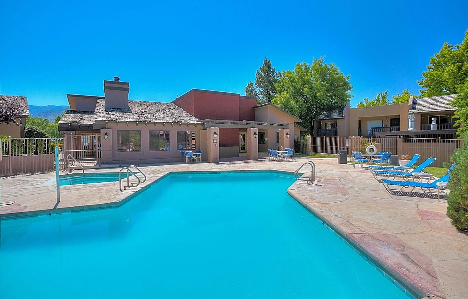 Resort-Style Pool at Eagle Point Apartments, Albuquerque, New Mexico