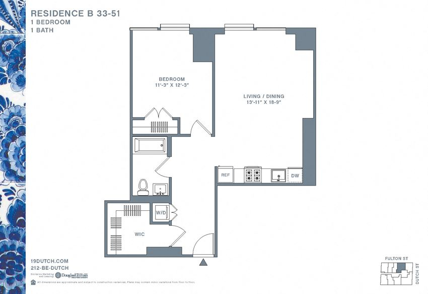 33-51 B One Bedroom One Bathroom