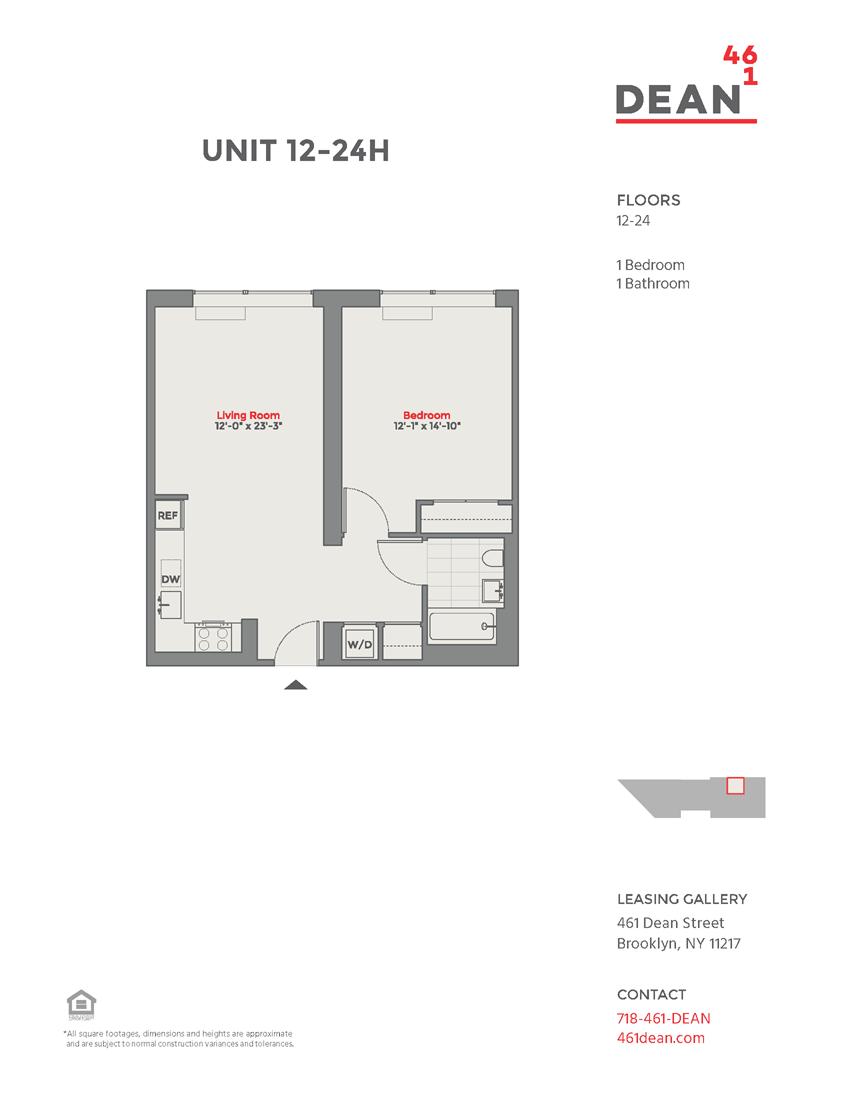 Floor plan at 461 Dean, New York, 11217