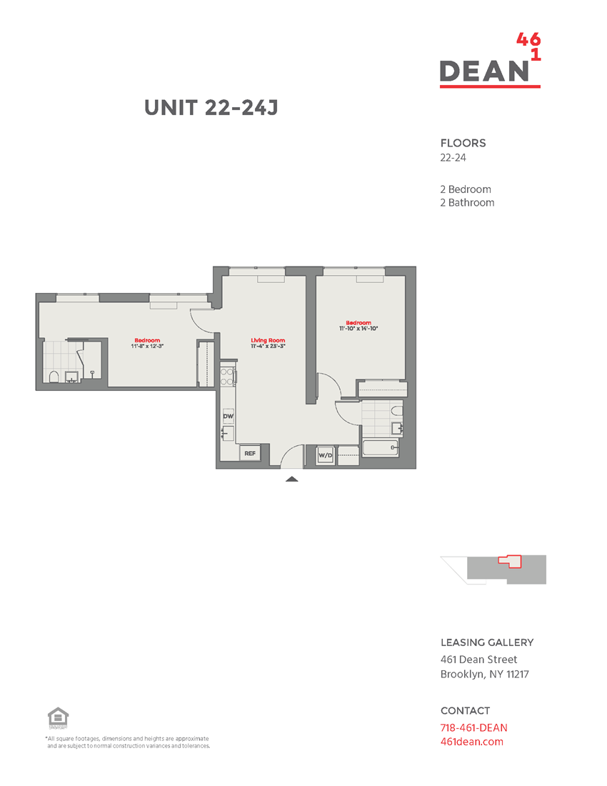 Floor plan at 461 Dean, Brooklyn, NY