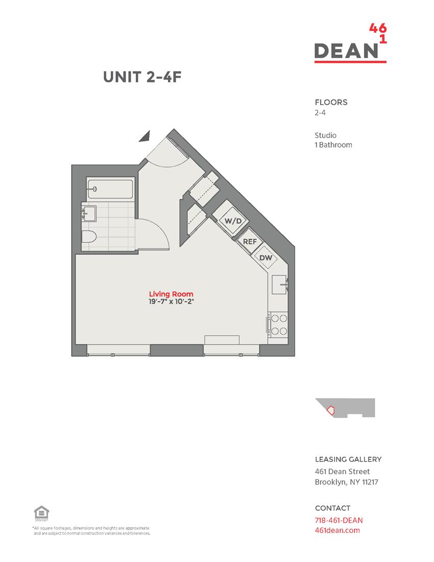 Floor plan at 461 Dean, Brooklyn