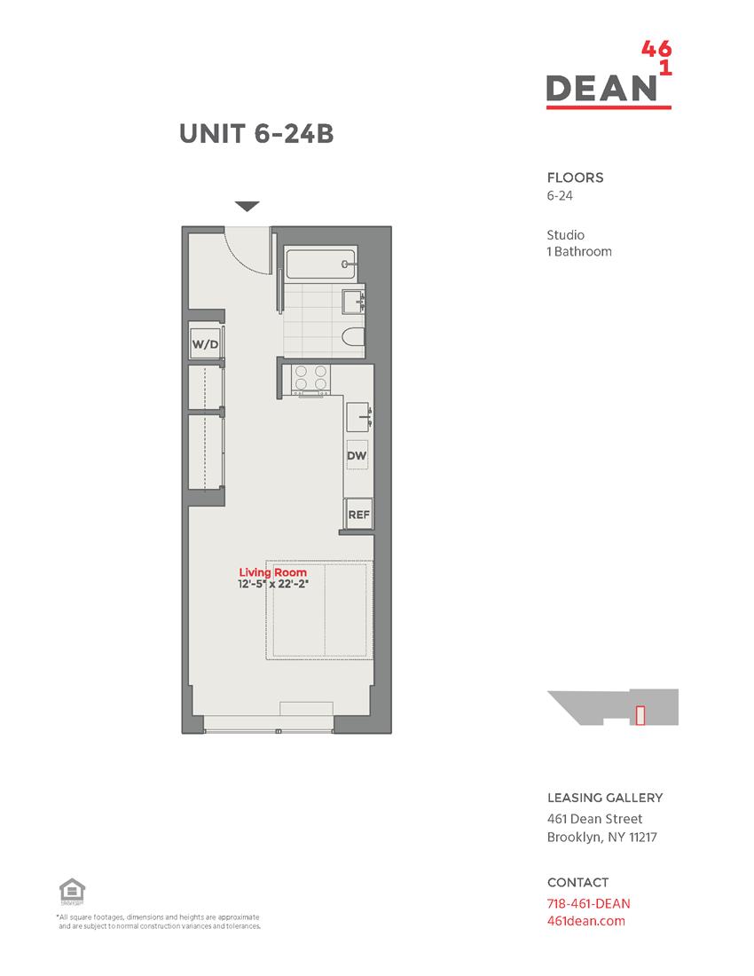 Floor plan at 461 Dean, Brooklyn, NY, 11217