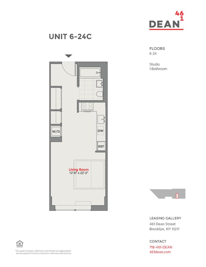 Floor plan at 461 Dean, Brooklyn, 11217