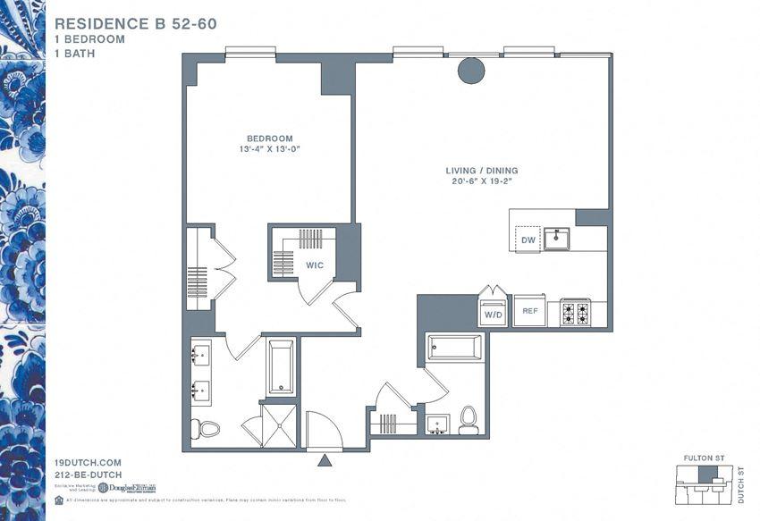 52-59B One Bedroom One Bathroom
