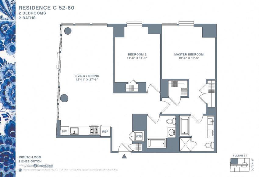 52-60 C Two bedroom Two bathroom