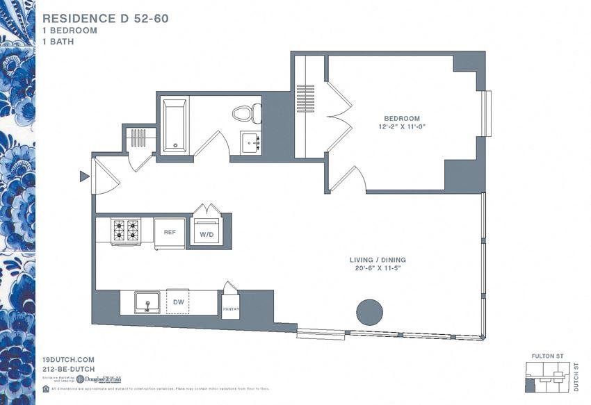 52-60D One Bedroom One Bathroom