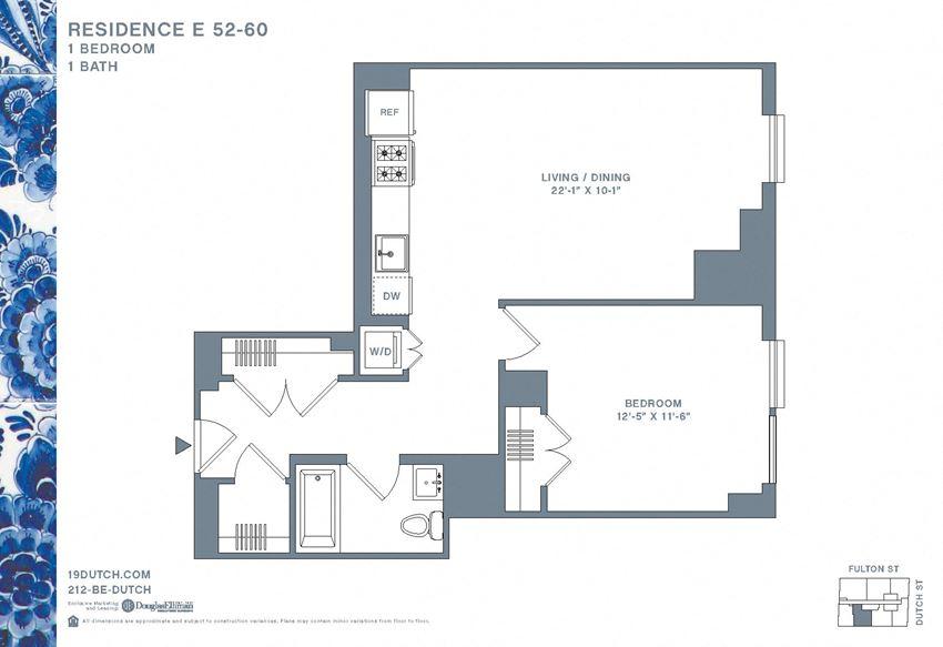 52-60E One Bedroom One Bathroom