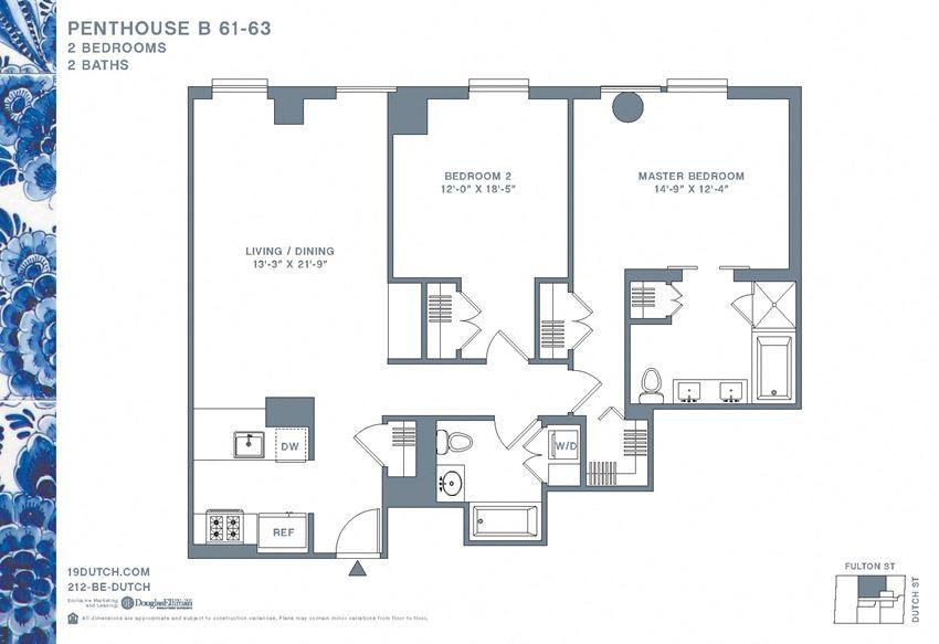 61-63B Two Bedroom Two Bathroom