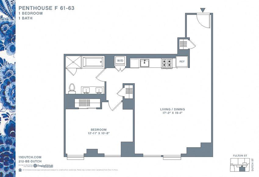 61-63 F One Bedroom One Bathroom