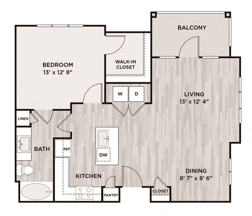One Bedroom Floorplan