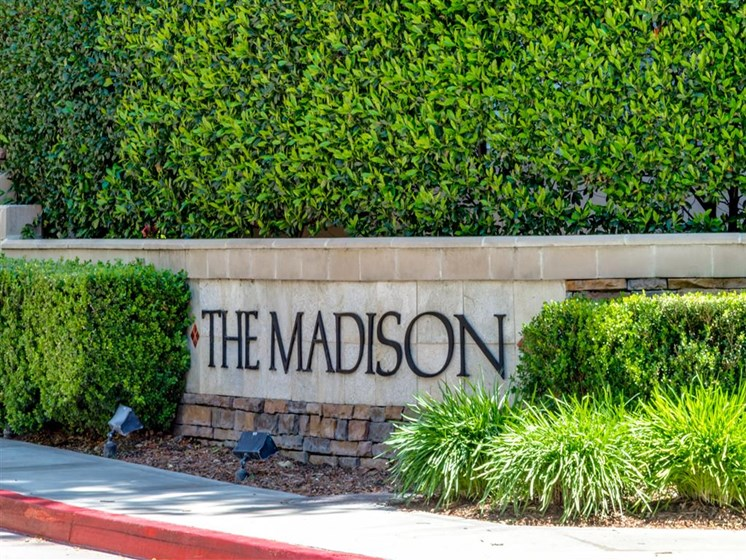 Signage at The Madison at Town Center, Valencia, CA, 91355