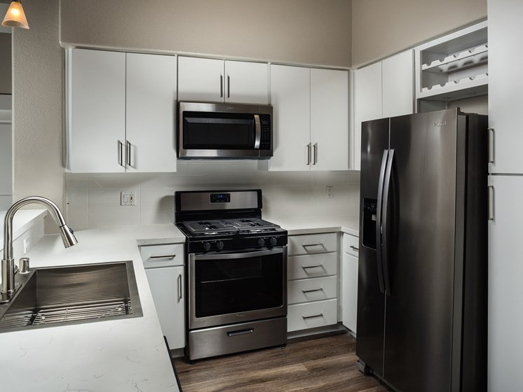 Sleek Energy Efficient Stainless-Steel Appliances at The Madison at Town Center, Valencia, CA