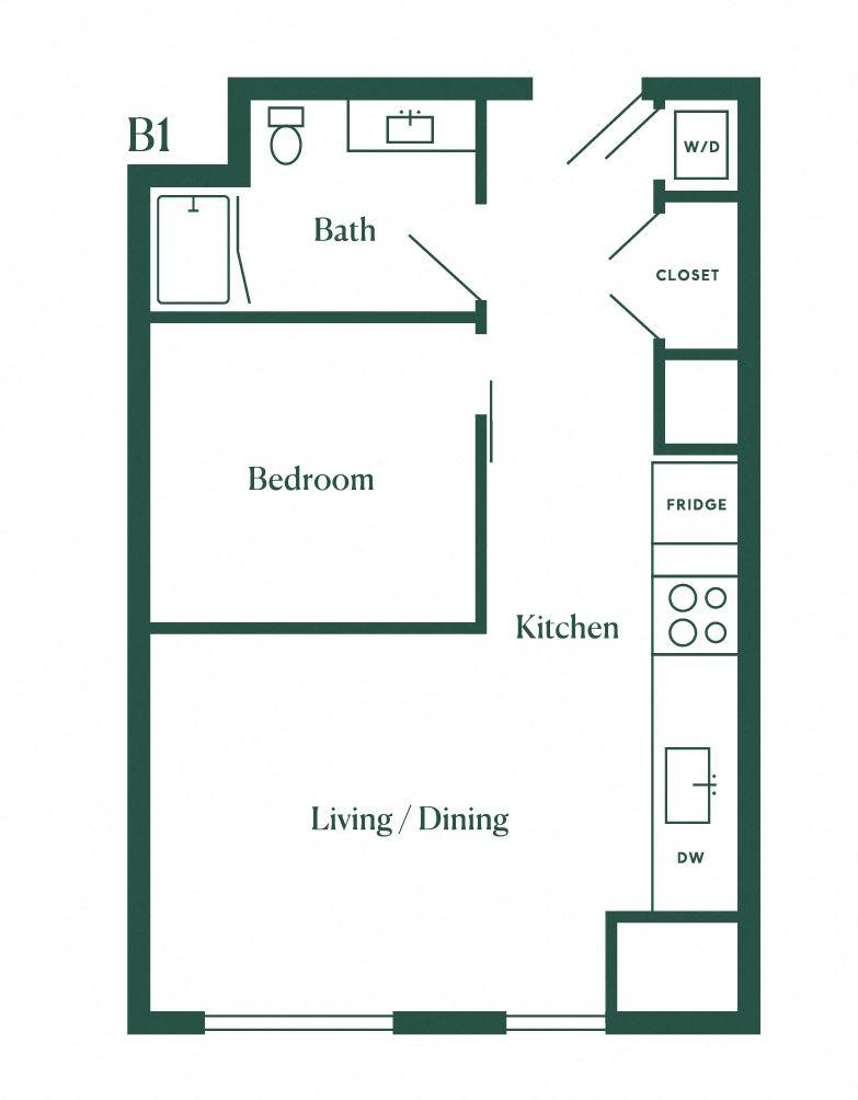 B1 One Bedroom