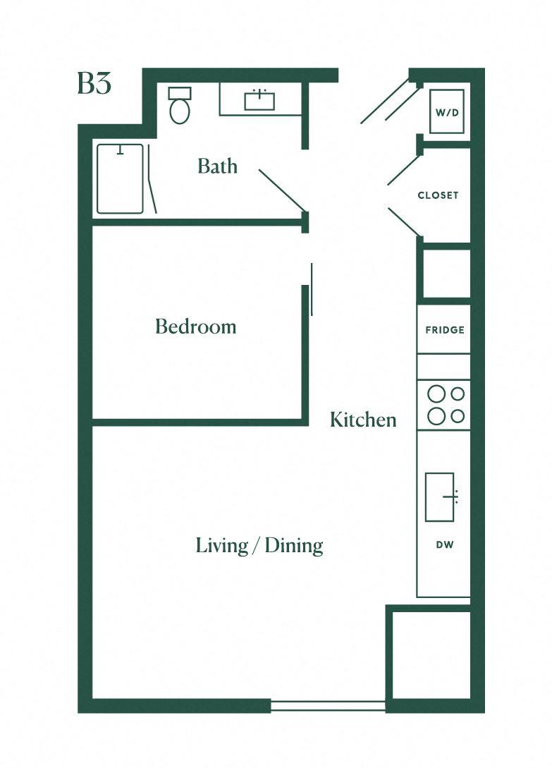 B3 One Bedroom