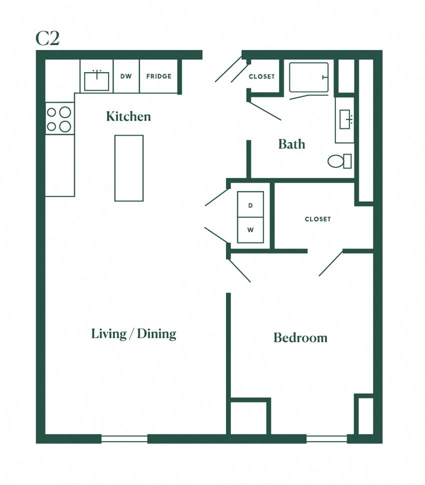 C2 One Bedroom