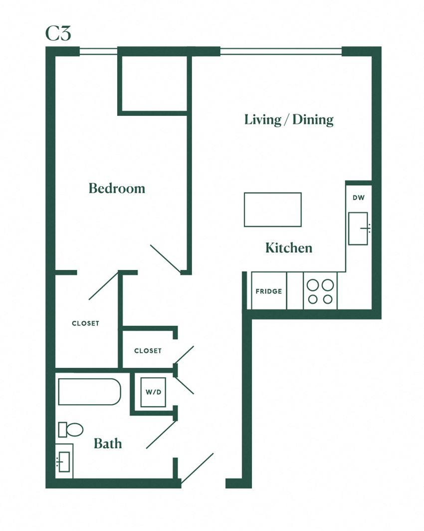 C3 One Bedroom
