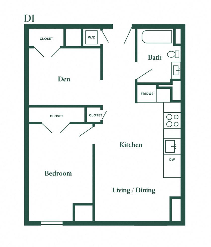D1 One Bedroom