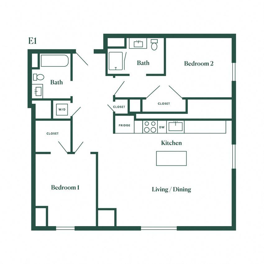 E1 Two Bedroom