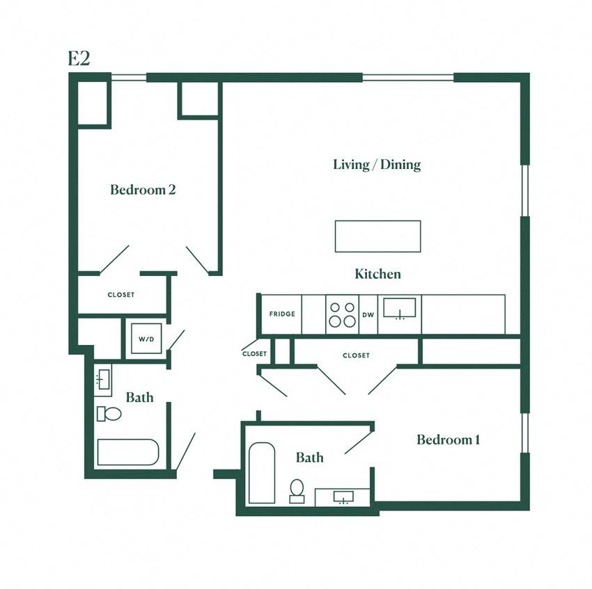 E2 Two Bedroom