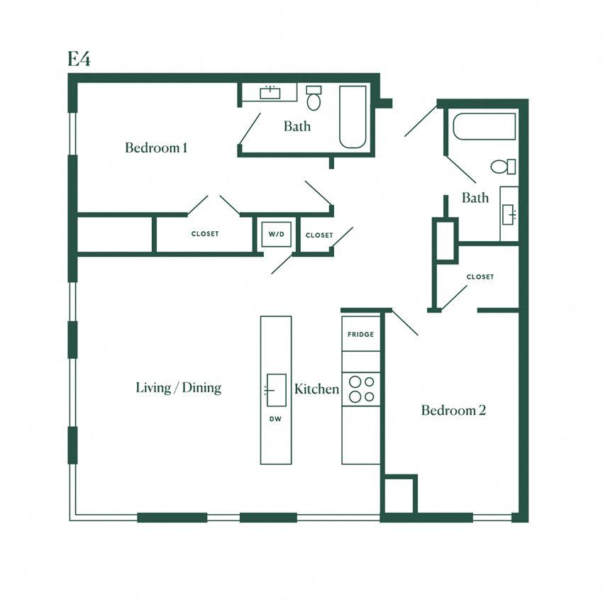 E4 Two Bedroom