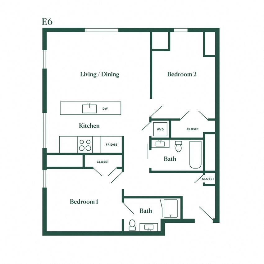 E6 Two Bedroom