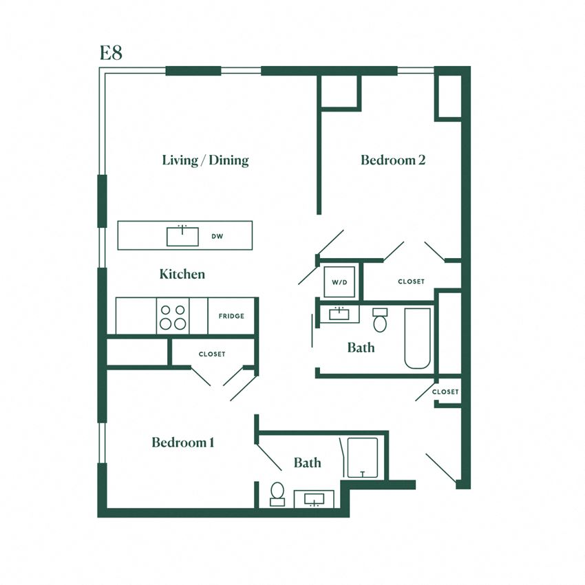 E8 Two Bedroom