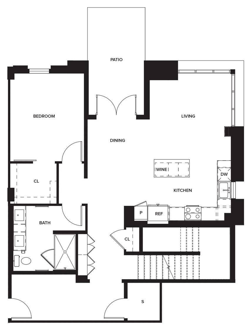 Townhome 2a (First Floor)