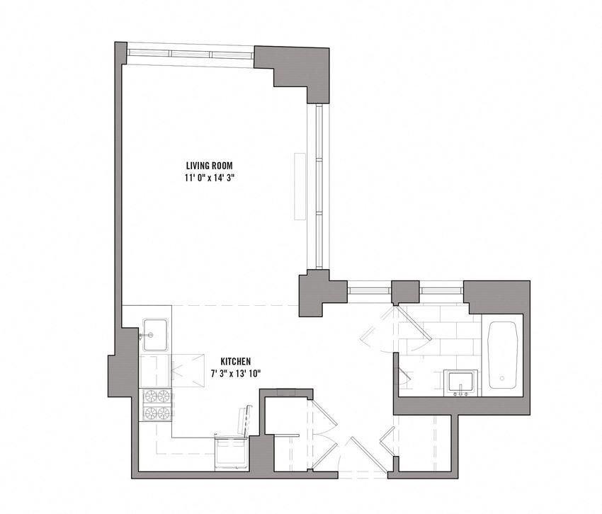 15 Cliff Studio Floorplan