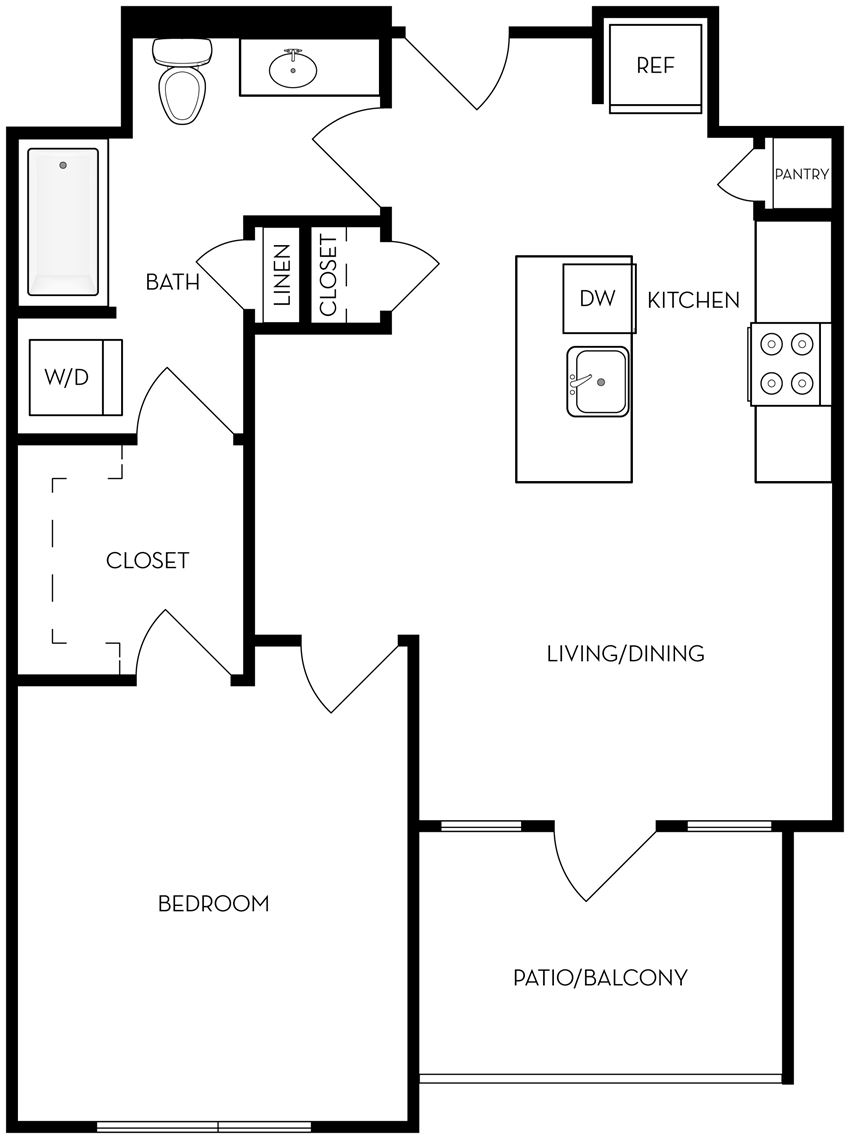 A1 one bedroom one bathroom
