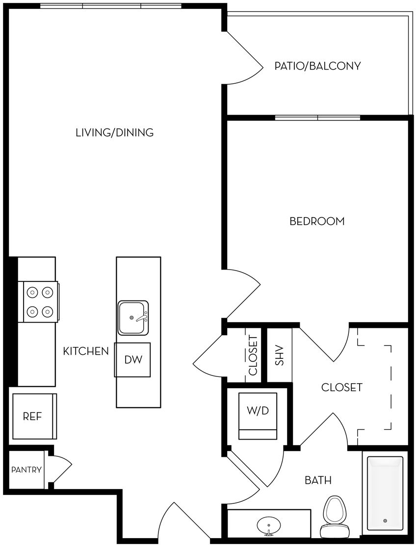 A2 one bedroom one bathroom